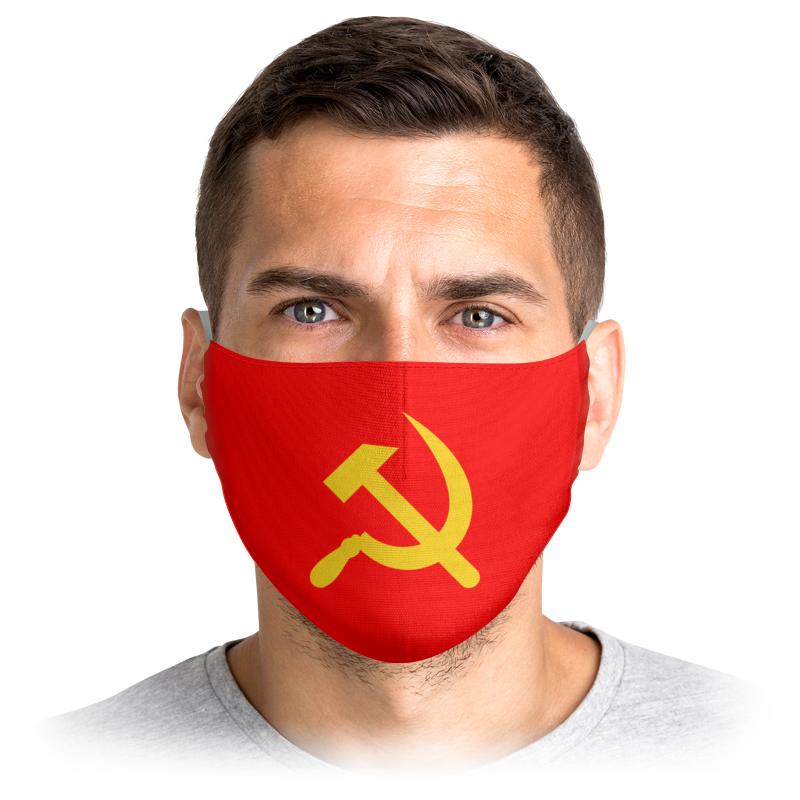 Printio Маска лицевая Советская символика ссср 80х ретро красная