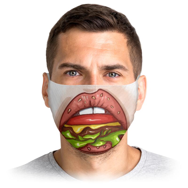 Printio Маска лицевая Губы бургер