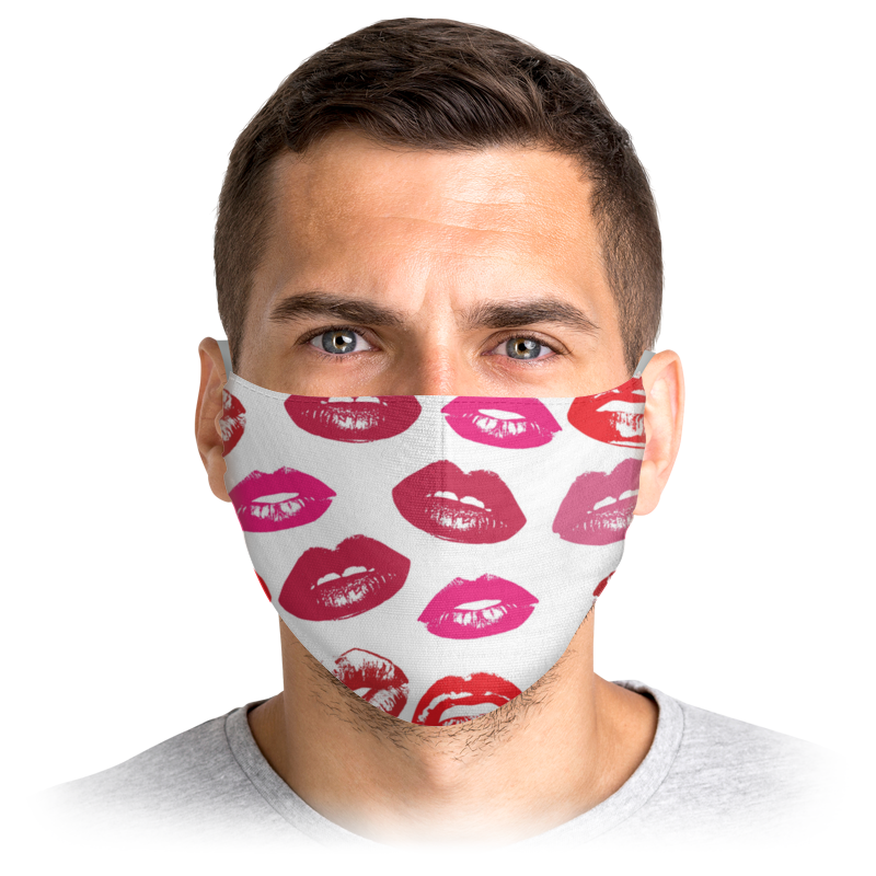 printio поцелуи Printio Маска лицевая Губы поцелуи