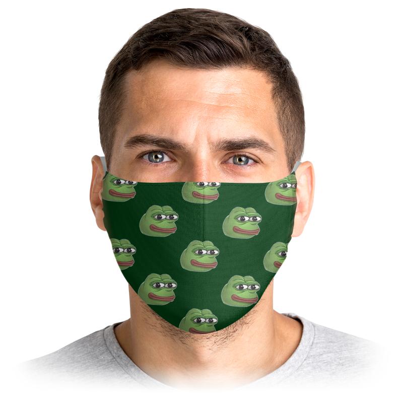 Printio Маска лицевая Pepe frog - лягушонок пепе printio ёлочная игрушка лягушонок пепе