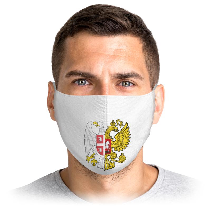 Printio Маска лицевая Сербия/россия гербы