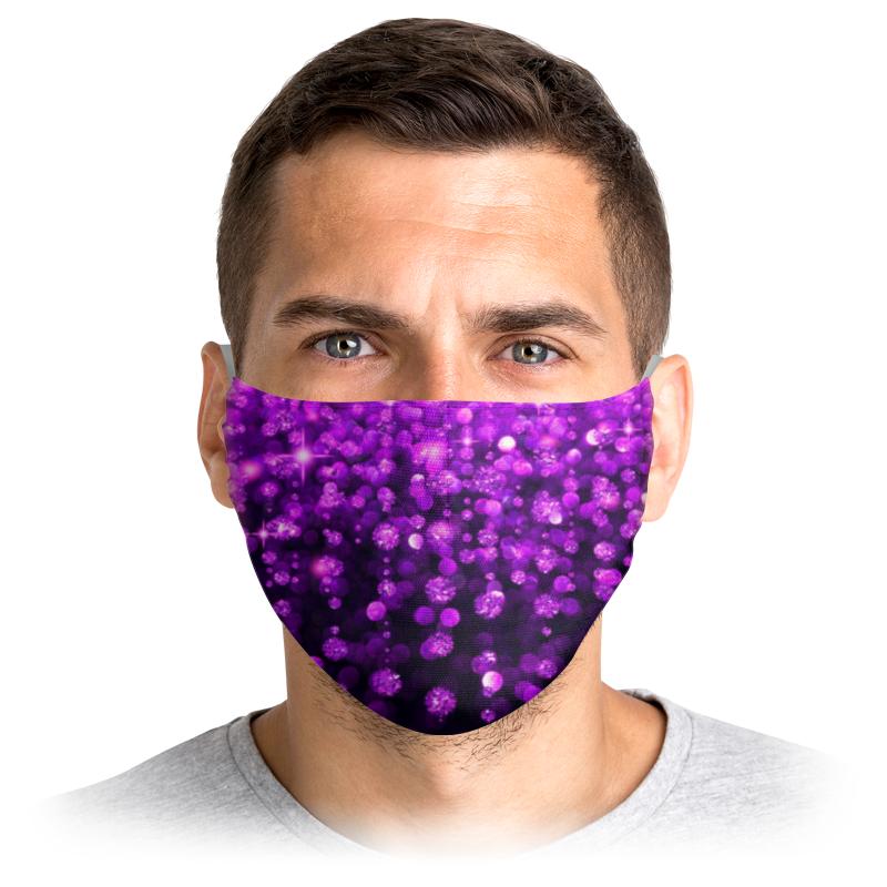 Printio Маска лицевая Блеск стразы гламур розовый фиолетовый
