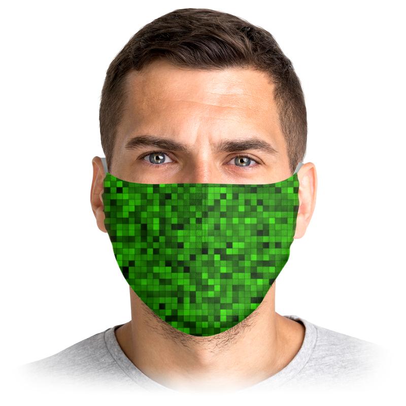 Printio Маска лицевая Зеленый пиксель