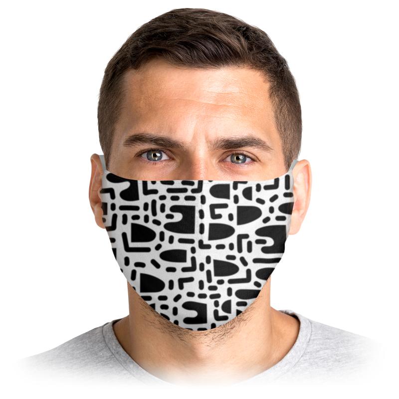 Printio Маска лицевая Черно-белая абстракция