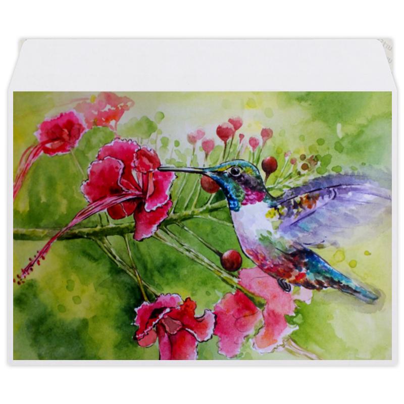 Printio Конверт средний С5 Птичка колибри