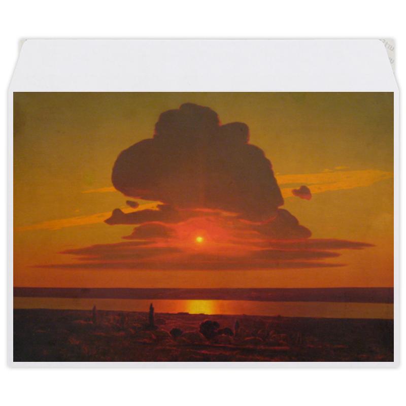 Фото - Printio Конверт средний С5 Красный закат (картина архипа куинджи) printio тетрадь на скрепке берёзовая роща картина архипа куинджи