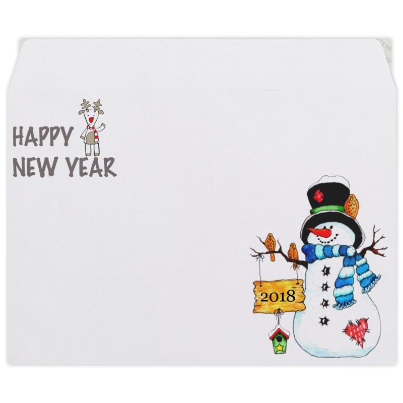 Printio Конверт средний С5 Happy new year 2018