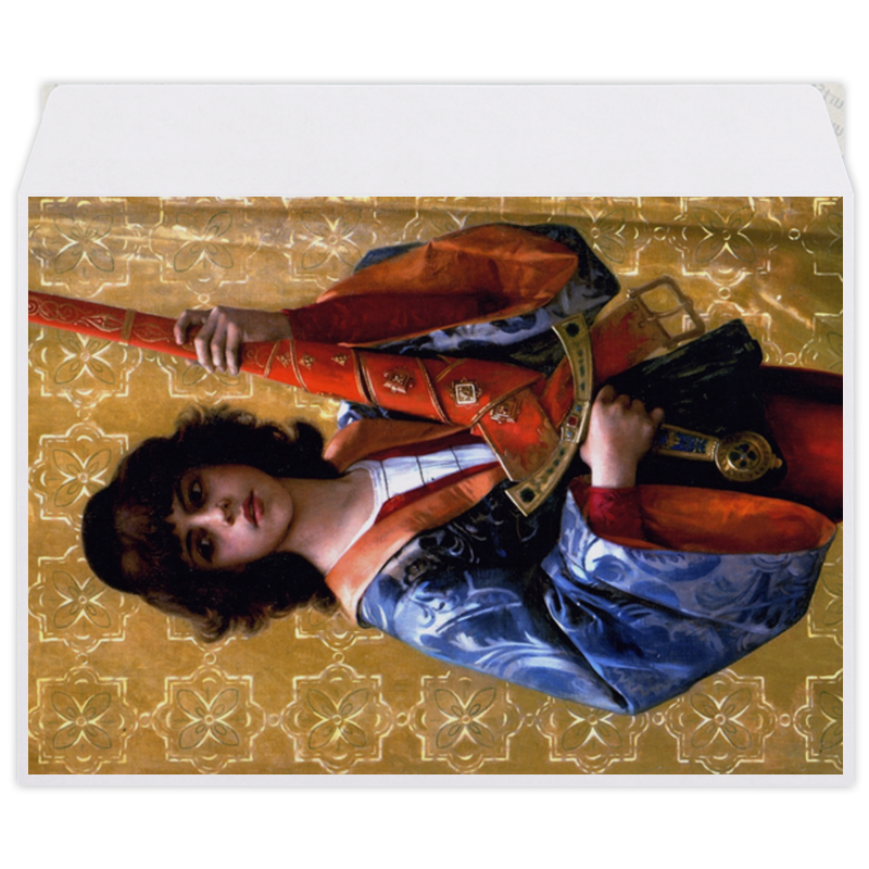 printio конверт средний с5 паж картина кабанеля Printio Конверт средний С5 Паж (картина кабанеля)
