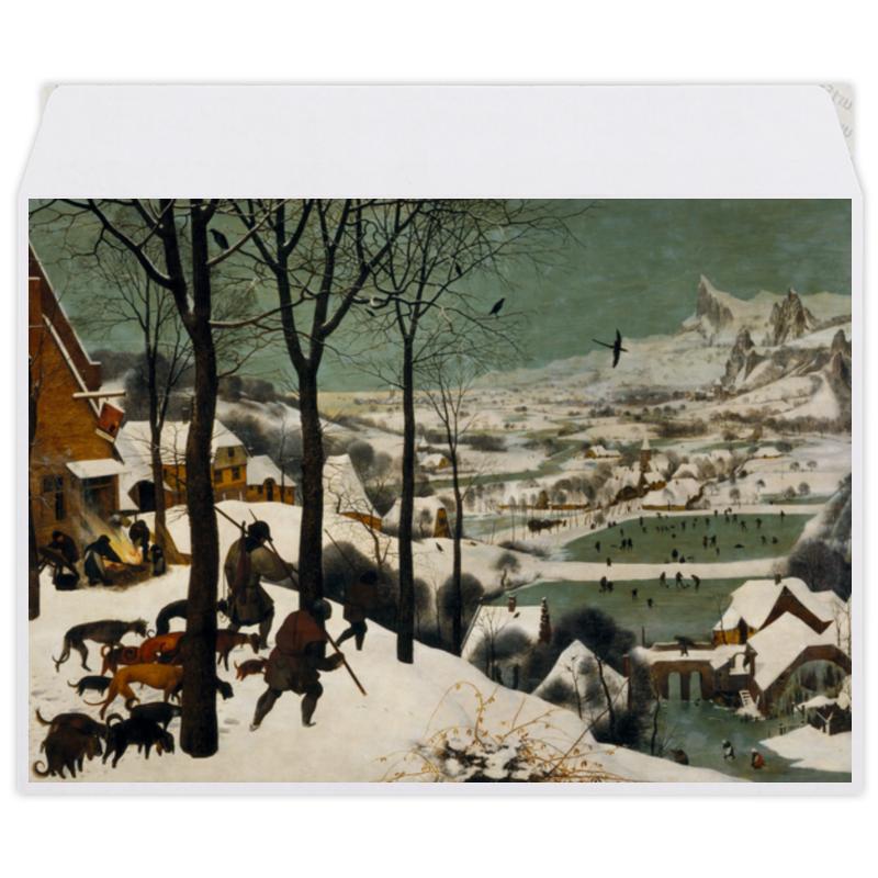Printio Конверт средний С5 Охотники на снегу (питер брейгель старший) printio пазл 43 5×31 4 см 408 элементов охотники на снегу питер брейгель старший