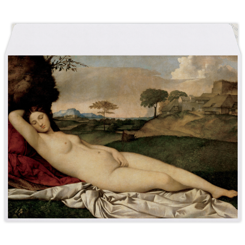 printio конверт средний с5 паж картина кабанеля Printio Конверт средний С5 Спящая венера (картина джорджоне)