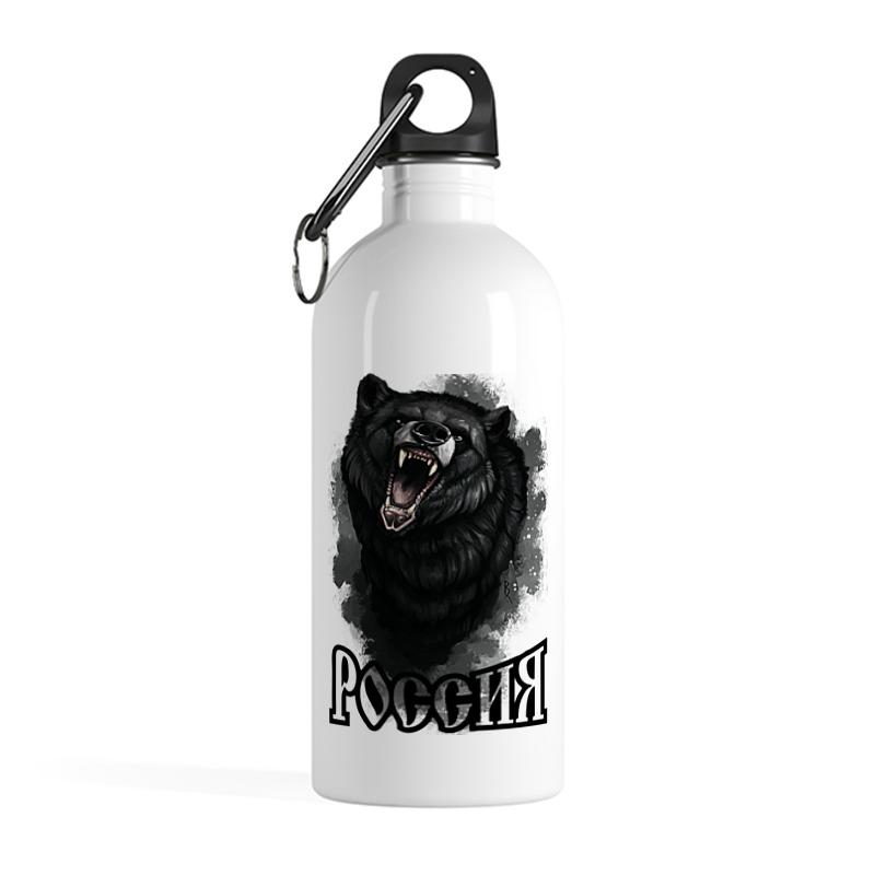 Printio Бутылка металлическая 500 мл Медведь. символика