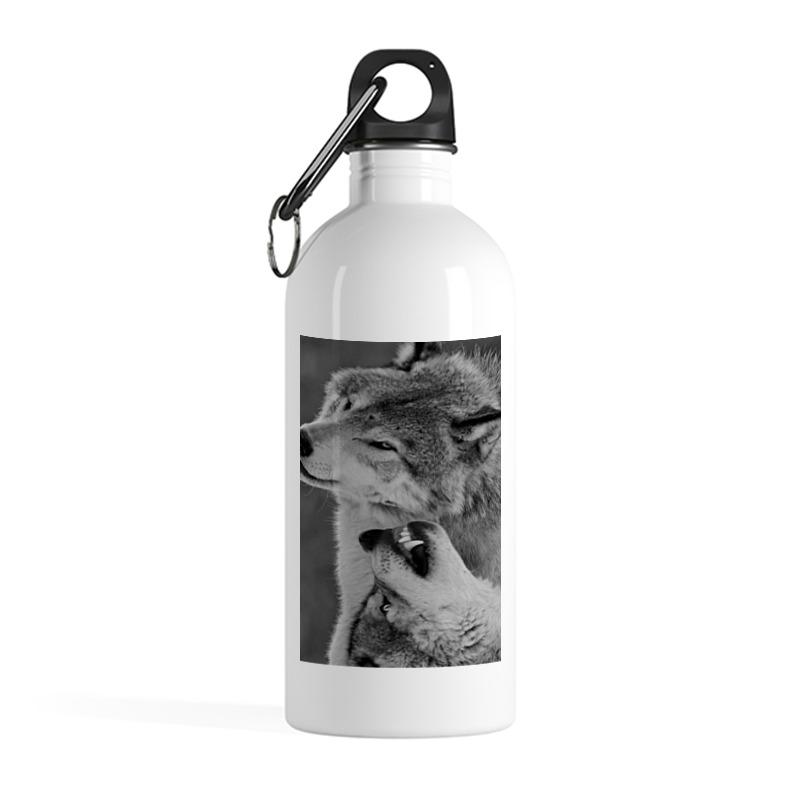 Printio Бутылка металлическая 500 мл Волчья верность