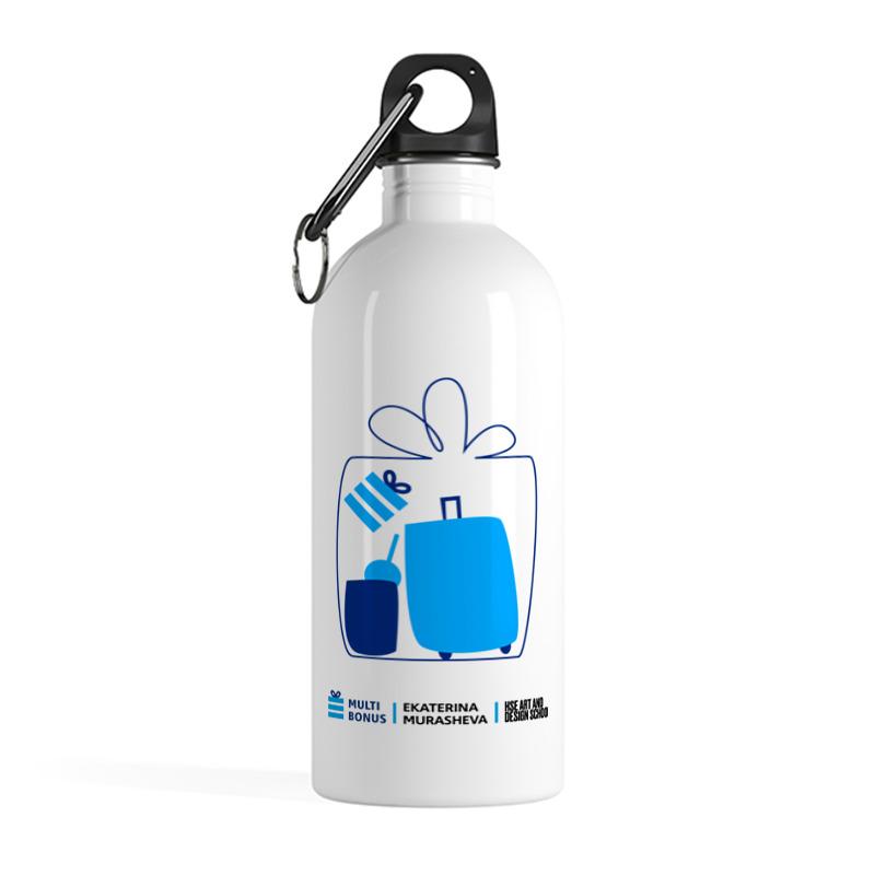 Printio Бутылка металлическая 500 мл Бутылка мультиподарок коллаб со школой дизайна