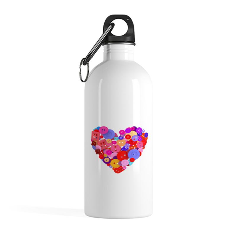 Фото - Printio Бутылка металлическая 500 мл Сердечко scb271028 металлическая подвеска сердечко белая ножка 9 см сердечко 5 3 см scrapberry s