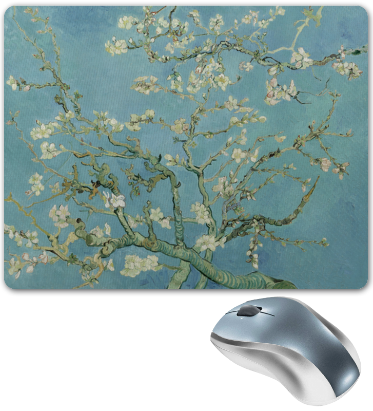 Printio Коврик для мышки Цветы миндаля (ван гог)