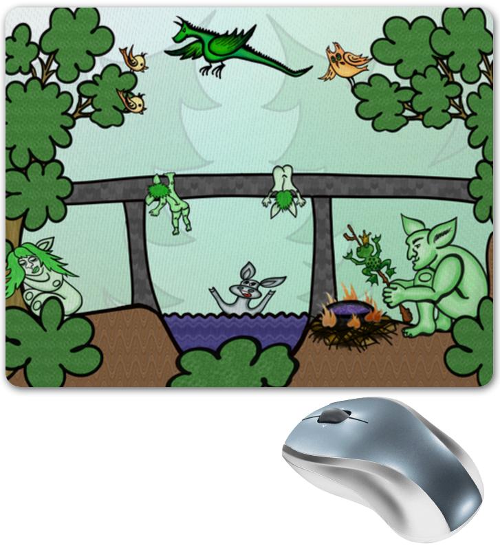 Printio Коврик для мышки Семья троллей живет под мостом