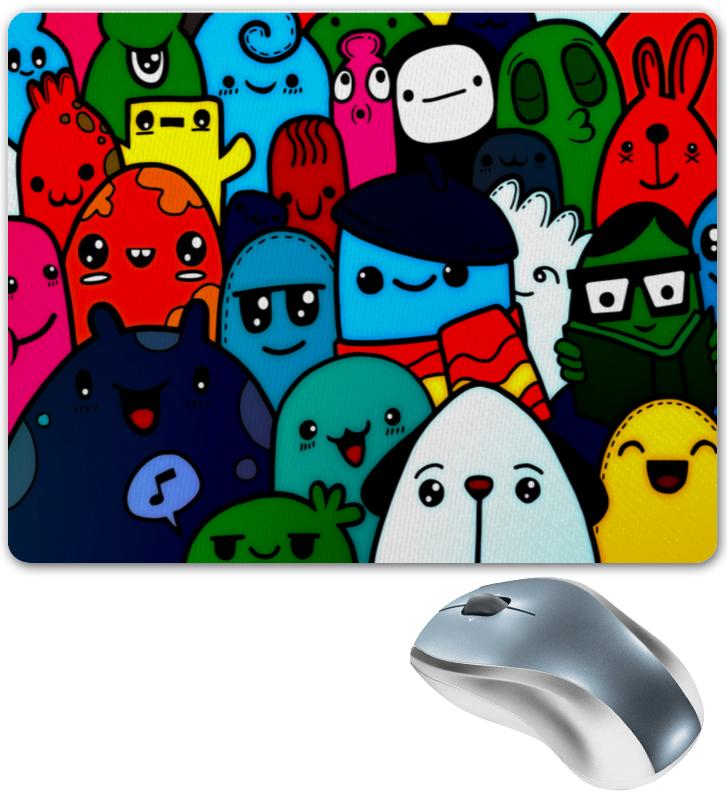 Printio Коврик для мышки Цветные смайлы printio коврик для мышки смайлы