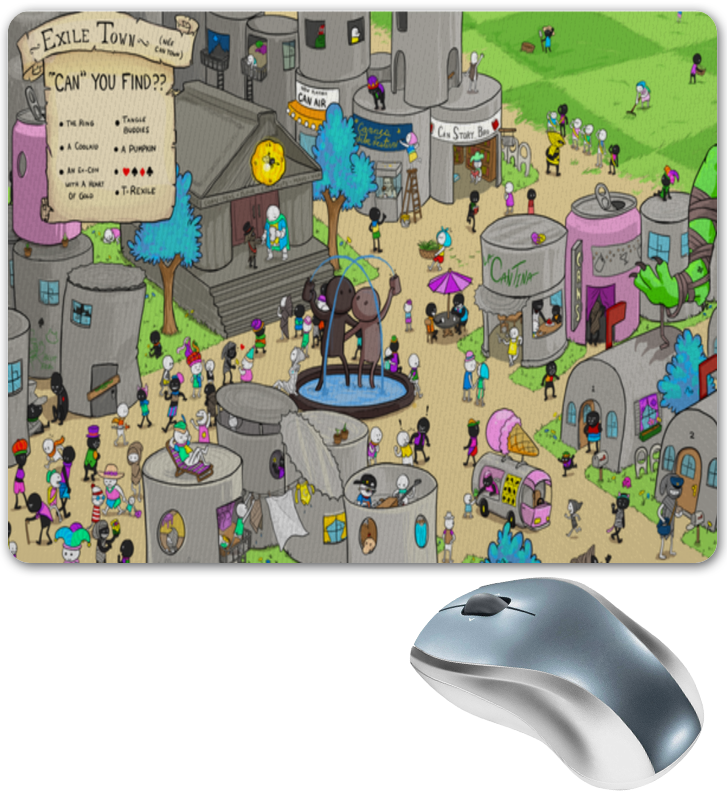 Printio Коврик для мышки Жители