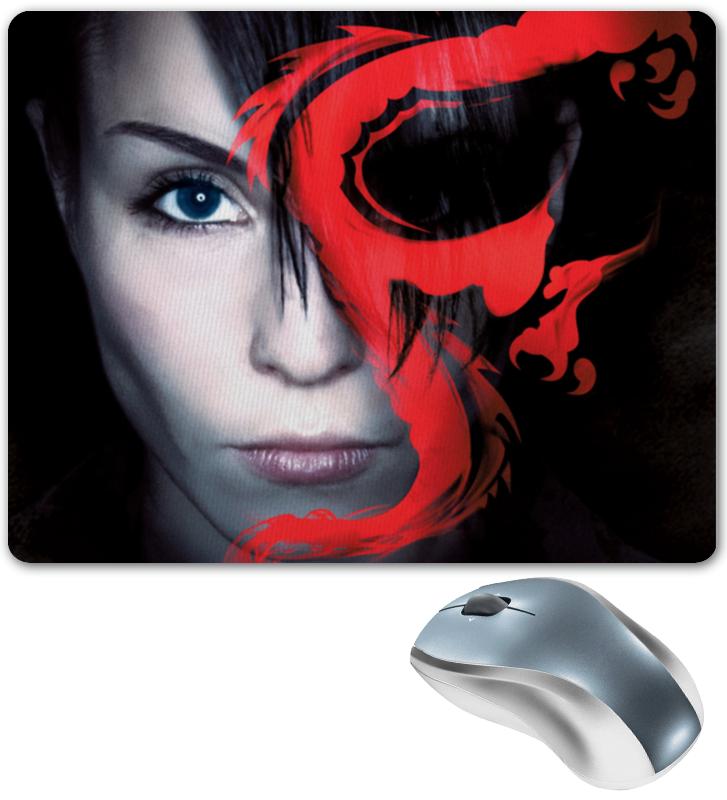 Printio Коврик для мышки Девушка с татуировкой дракона