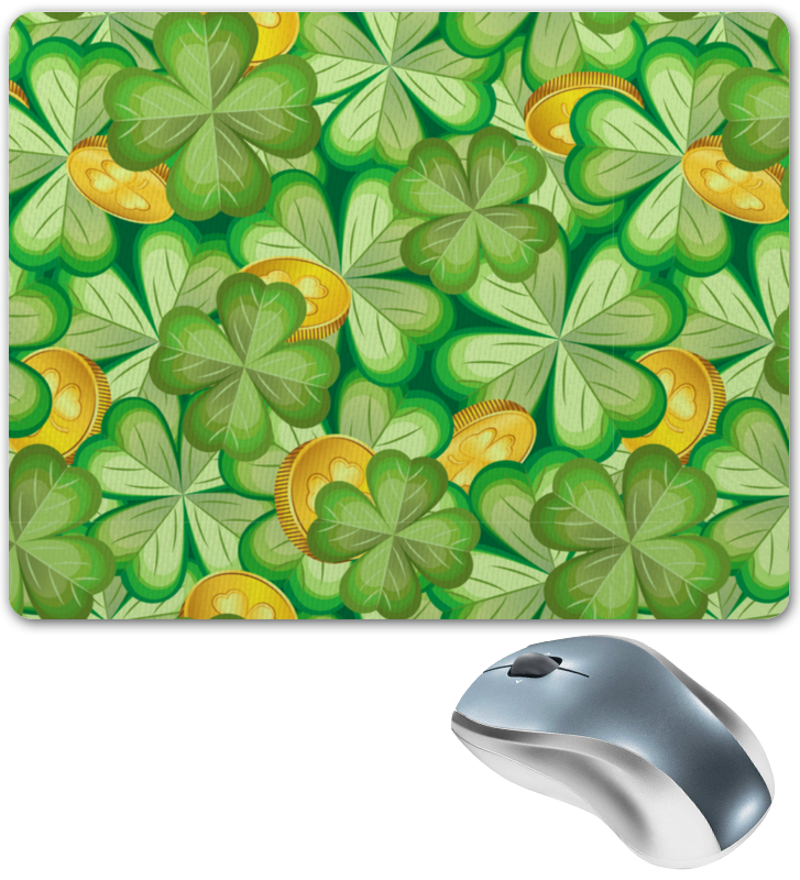Printio Коврик для мышки Клевер & монеты