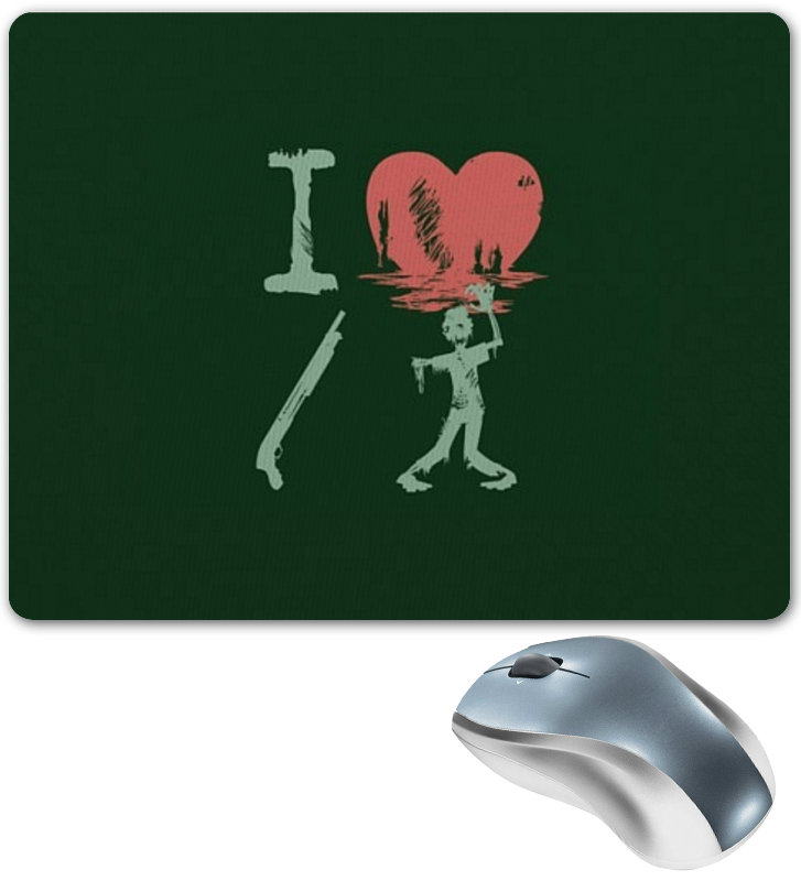 Printio Коврик для мышки Я люблю зомби printio коврик для мышки сердце я тебя люблю валентинка