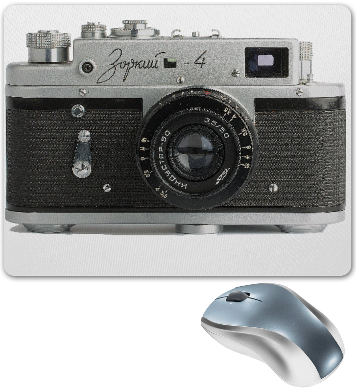 Printio Коврик для мышки Фотоаппарат зоркий-4