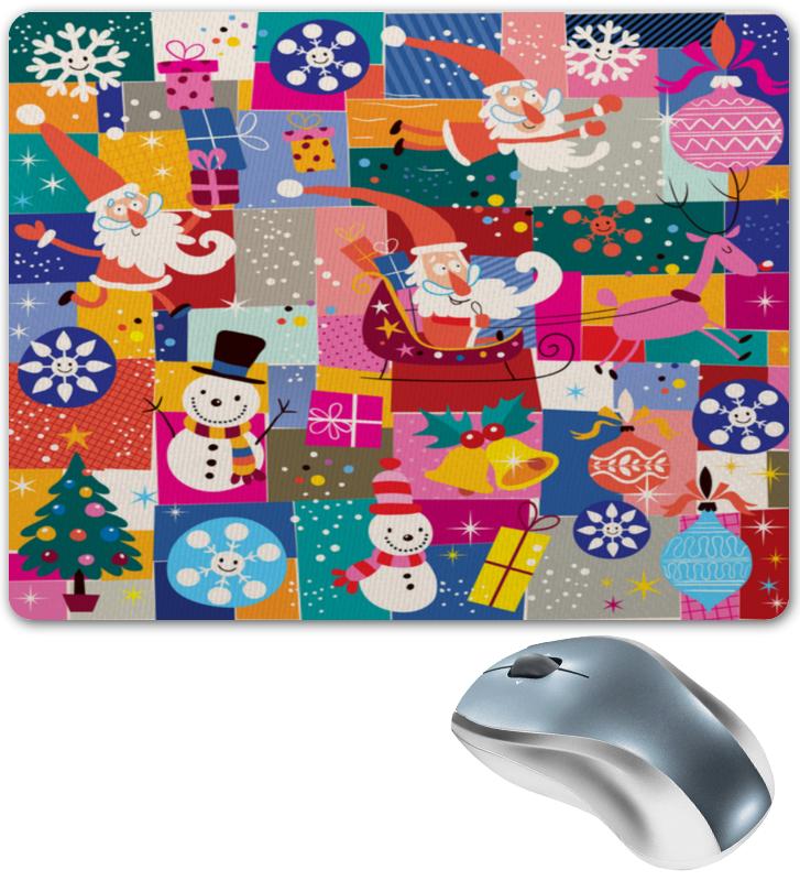 Printio Коврик для мышки Санта и подарки