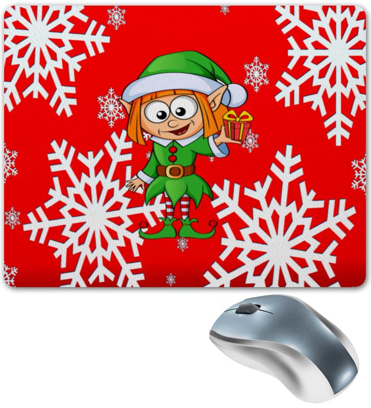 Printio Коврик для мышки Эльф и подарок