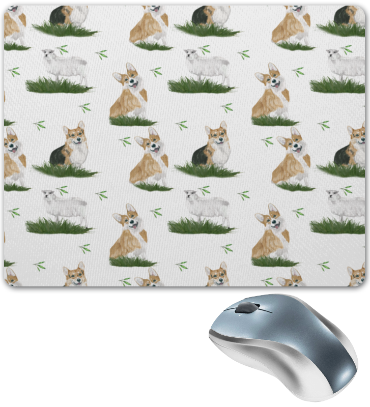 Printio Коврик для мышки Корги на траве
