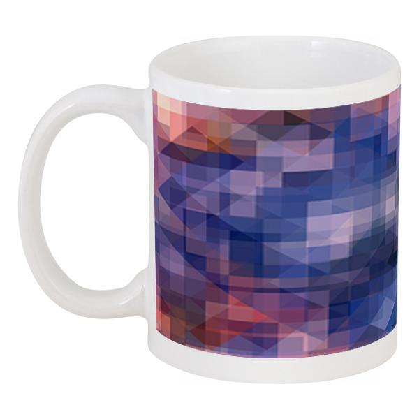Printio Кружка Пиксель-арт. сине-розовый паттерн