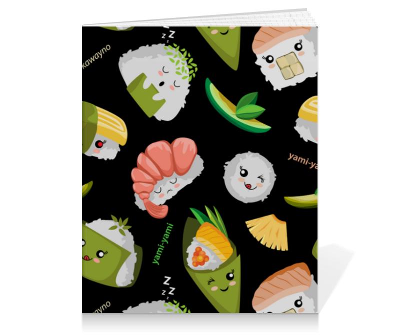Printio Тетрадь на клею Кавайные суши