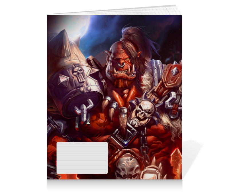 Printio Тетрадь на клею Warcraft: орк
