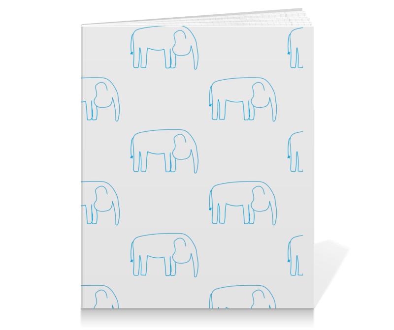 Printio Тетрадь на клею Синий слон printio тетрадь на клею черный слон