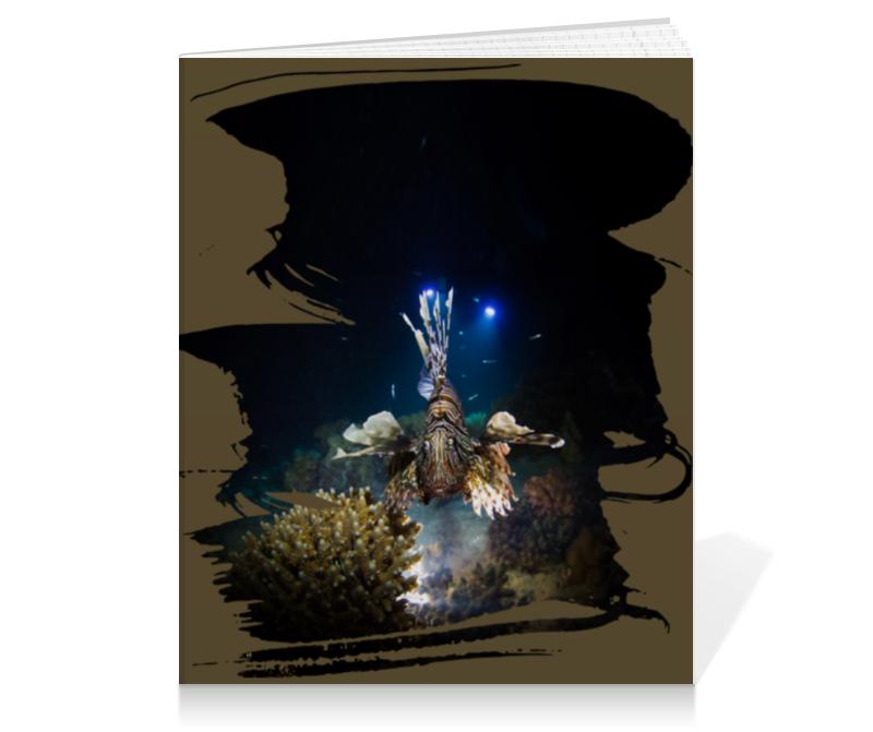 Printio Тетрадь на клею Рыба крылатка printio коробка для кружек рыба крылатка