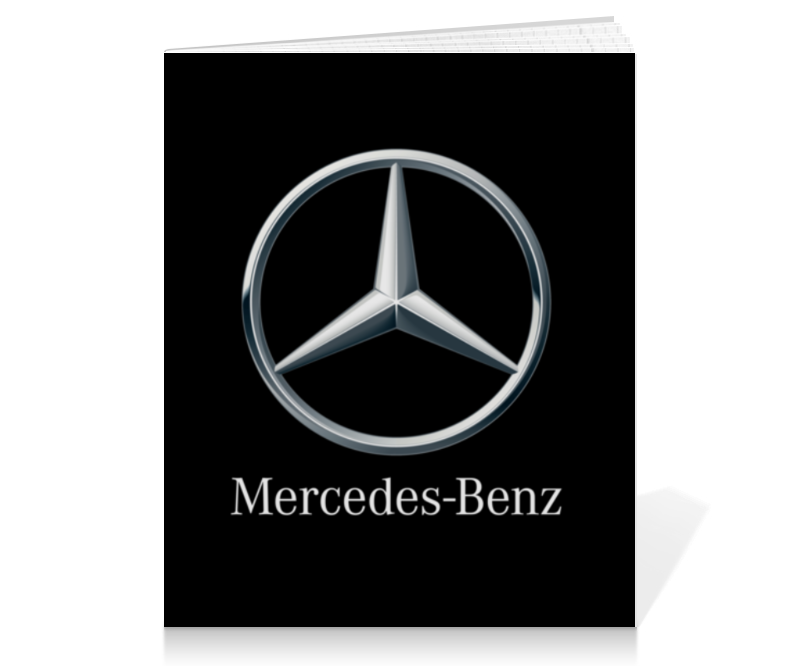 Printio Тетрадь на клею Mercedes-benz