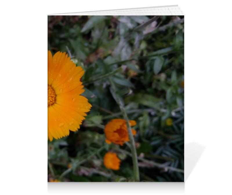 Printio Тетрадь на клею Летние цветы