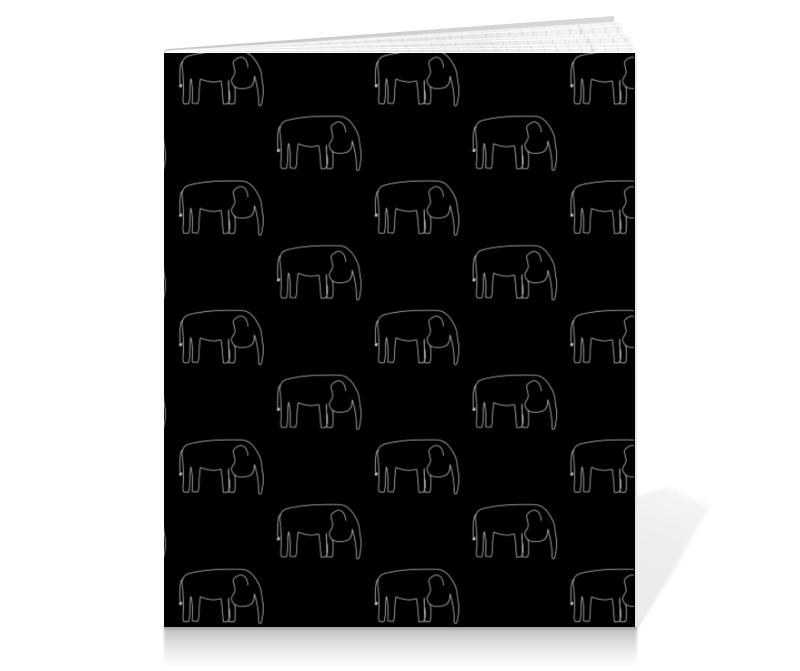 Printio Тетрадь на клею Белый слон printio тетрадь на клею черный слон