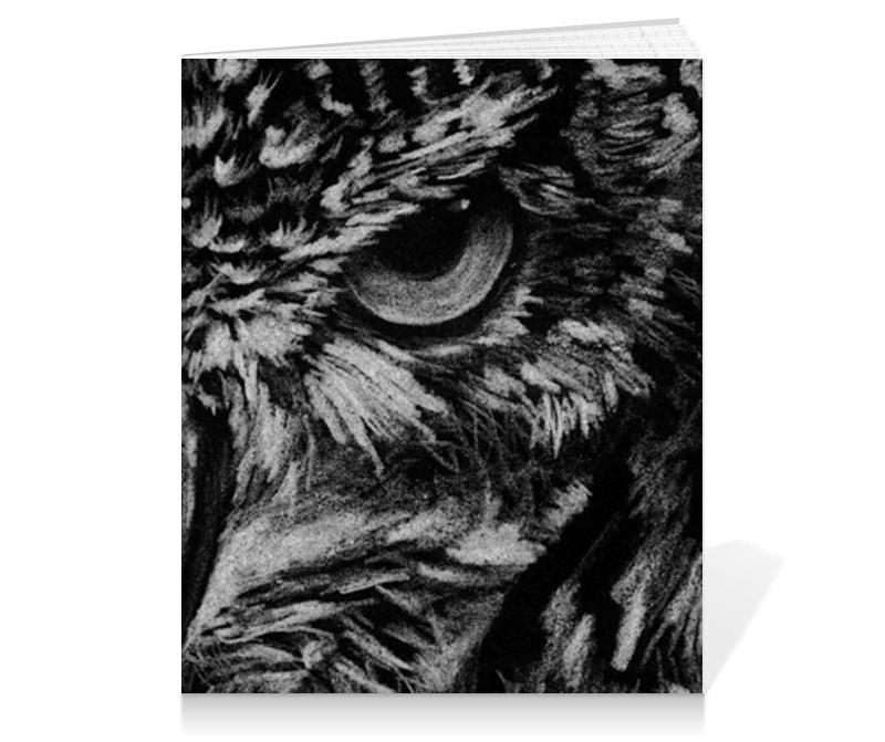 Printio Тетрадь на клею Черно-белая сова