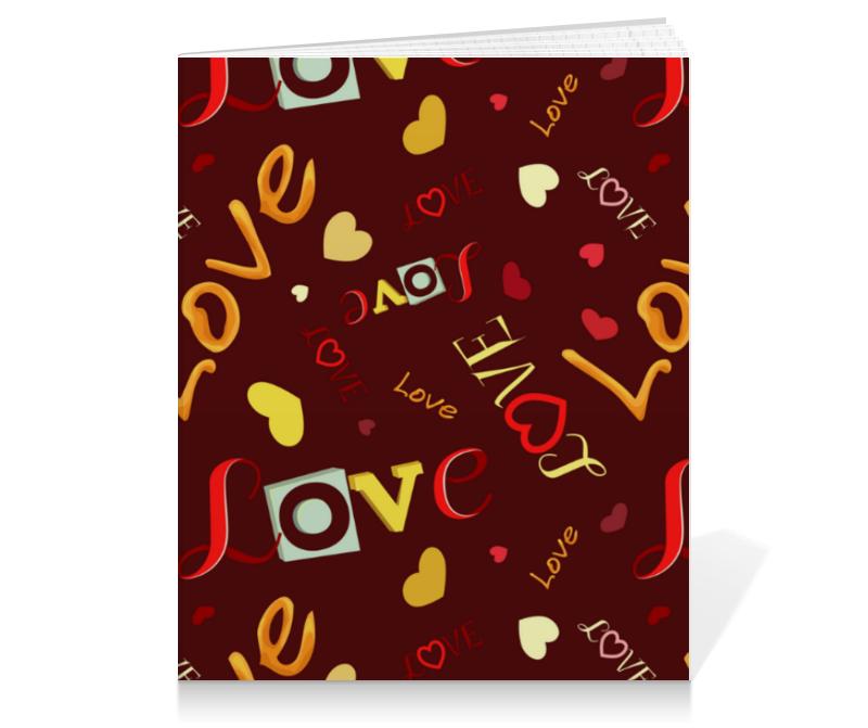 Printio Тетрадь на клею Любовные надписи