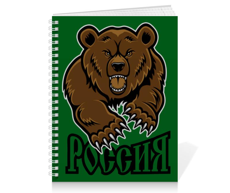 Printio Тетрадь на пружине Медведь. символика