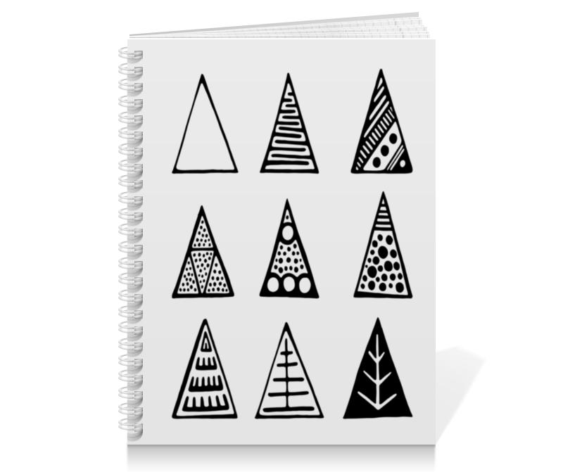 Printio Тетрадь на пружине Triangles printio сумка с абстрактным рисунком