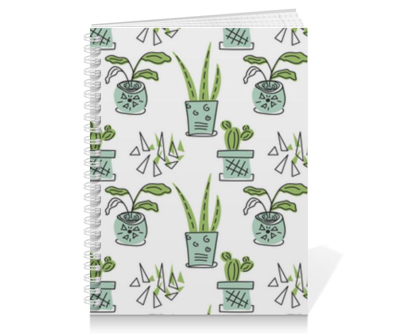 Printio Тетрадь на пружине Комнатные растения и кактусы