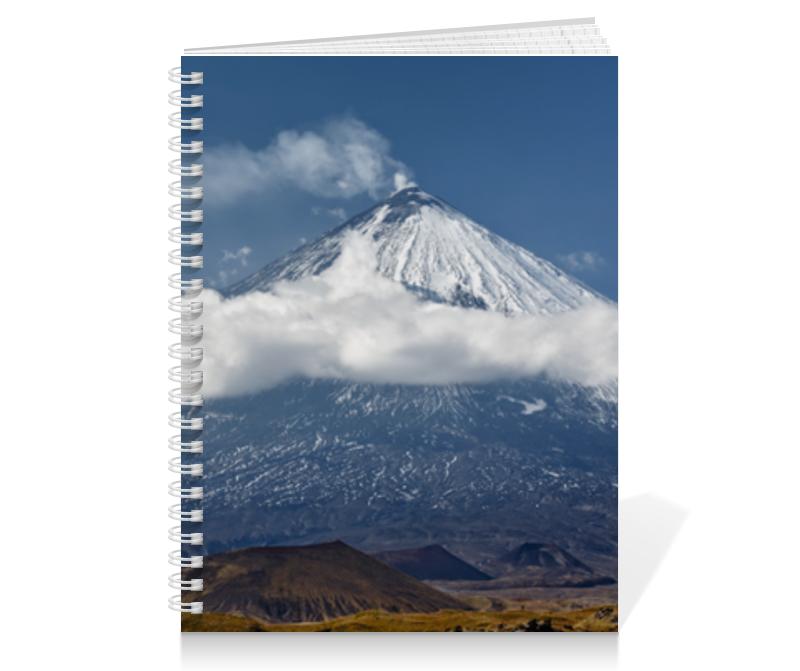 Printio Тетрадь на пружине Камчатка, осенний пейзаж, извержение вулкана