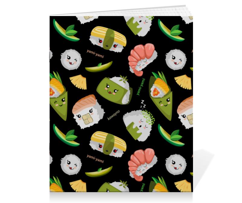 Printio Тетрадь на скрепке Кавайные суши