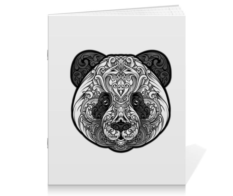 printio тетрадь на скрепке панда Printio Тетрадь на скрепке Узорная панда