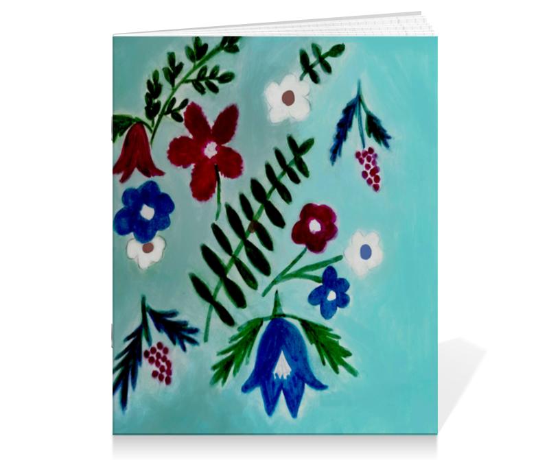 printio тетрадь на скрепке новогоднее настроение Printio Тетрадь на скрепке Цветы на голубом