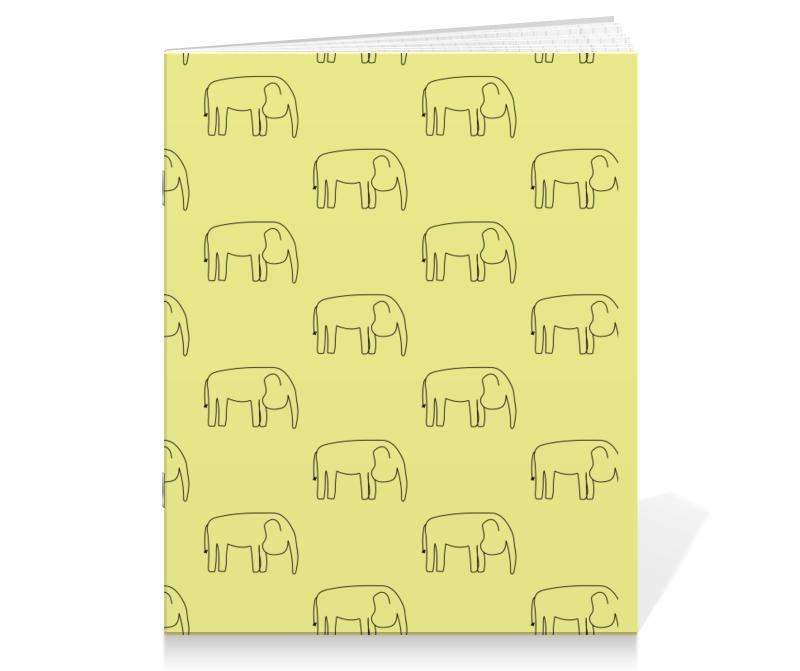 Printio Тетрадь на скрепке Черный слон printio тетрадь на клею черный слон