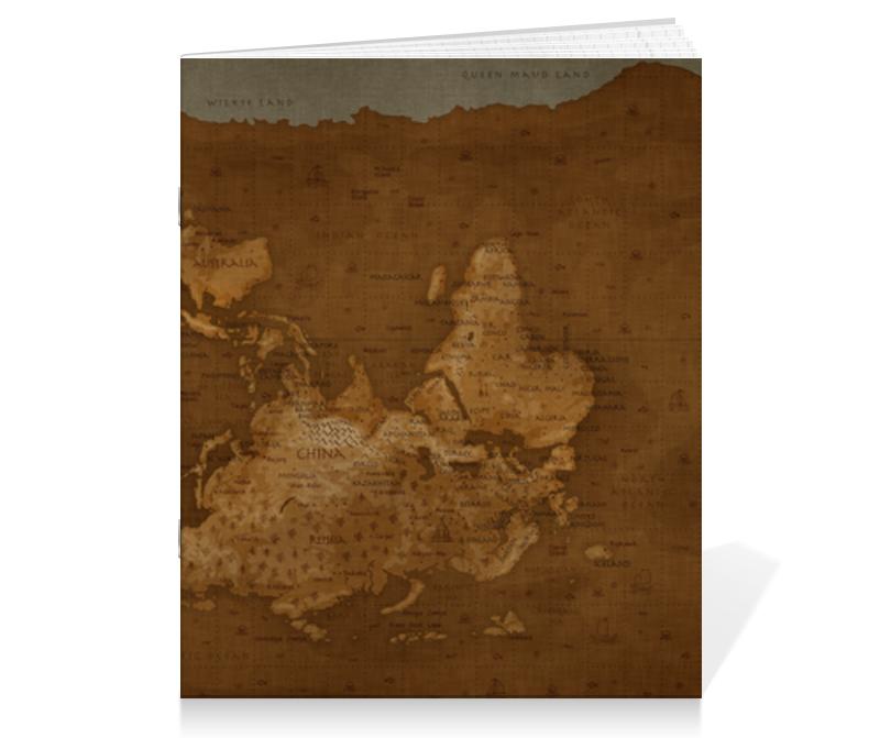 Printio Тетрадь на скрепке Карта мира