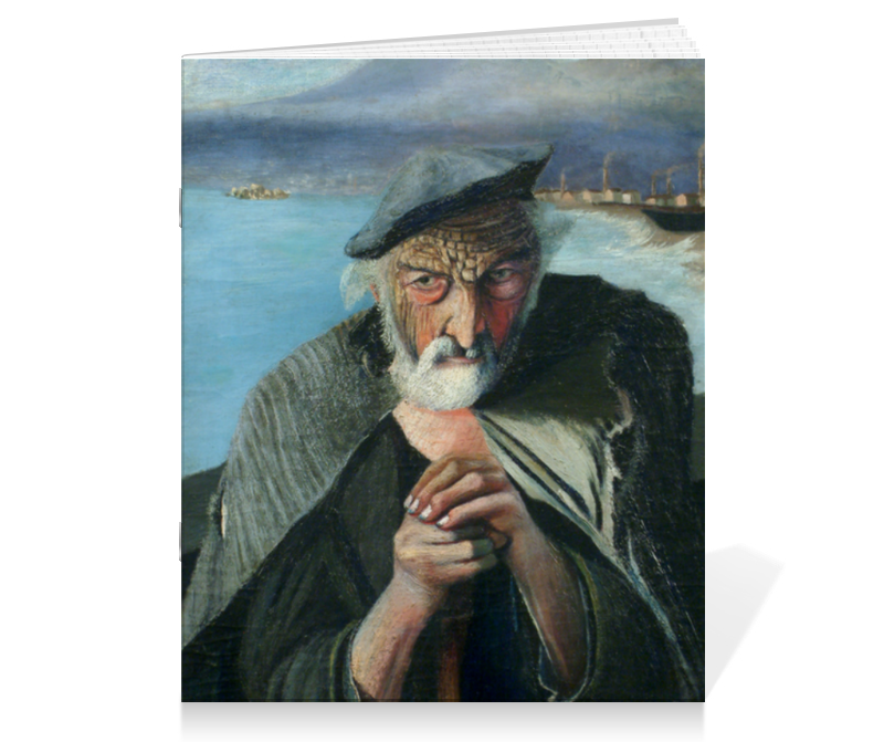 Printio Тетрадь на скрепке Старый рыбак (тивадар чонтвари)