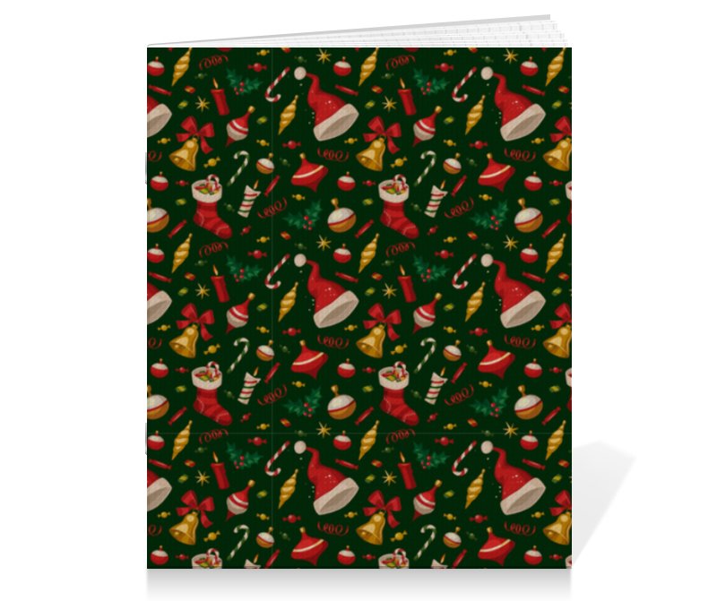 printio тетрадь на скрепке новогоднее настроение Printio Тетрадь на скрепке Новогодние праздники